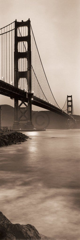 Alan Blaustein - Golden Gate Bridge I Kunstdruk 90x30cm