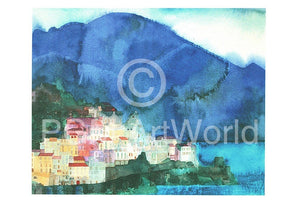 Ralf Westphal - Amalfi, Golf von Salerno Kunstdruk 70x50cm | Yourdecoration.be