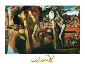Salvador Dali - La metamorfosi di narciso Kunstdruk 80x60cm | Yourdecoration.be