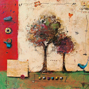 Sonja Kobrehel - Tree I Kunstdruk 70x70cm | Yourdecoration.be