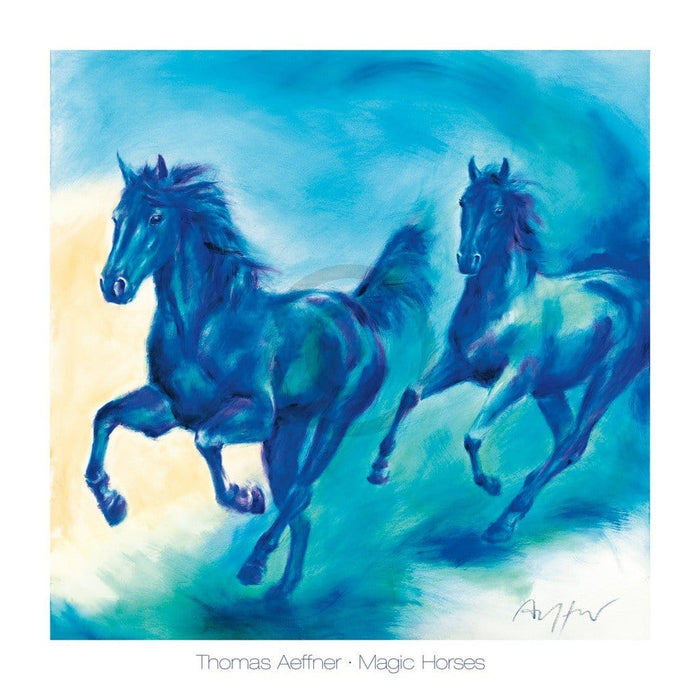 Thomas Aeffner - Magic Horses Kunstdruk 70x70cm