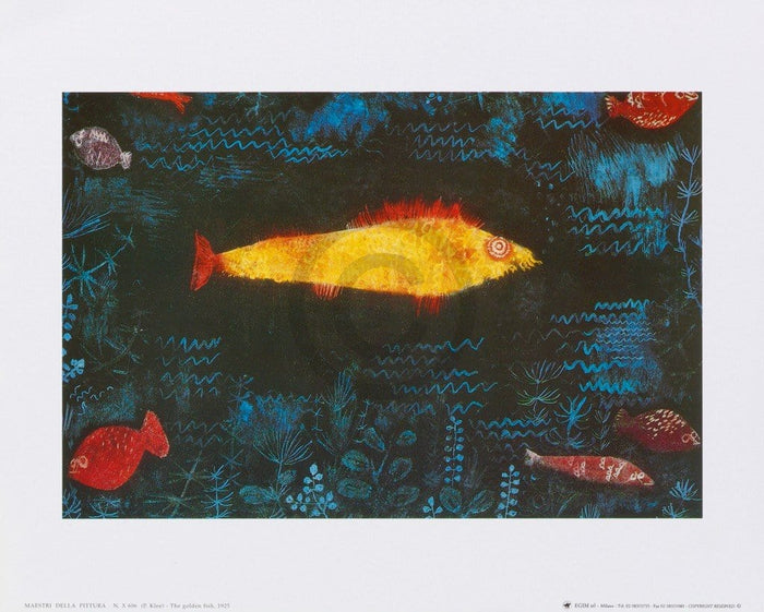 Paul Klee - The golden fish, 1925 Kunstdruk 30x24cm
