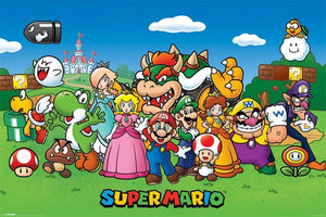 Pyramid Super Mario Characters Poster 91,5x61cm | Yourdecoration.be
