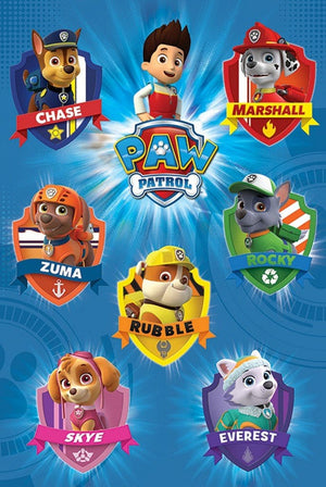 Pyramid Paw Patrol Crests Poster 61x91,5cm | Yourdecoration.be
