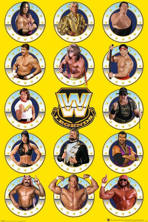 Pyramid WWE Legends Chrome Poster 61x91,5cm | Yourdecoration.be
