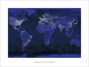 Pyramid Earth by Night Kunstdruk 60x80cm | Yourdecoration.be