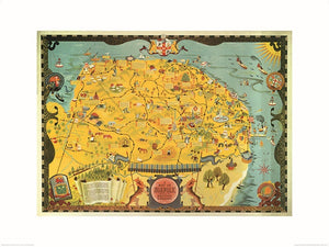 Pyramid Norfolk Map Kunstdruk 60x80cm | Yourdecoration.be