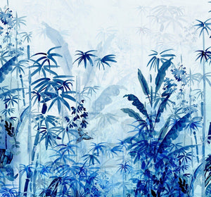 Komar Blue Jungle Vlies Fotobehang 300x280cm 3-banen | Yourdecoration.be