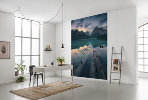Komar Burning Emerald Vlies Fotobehang 200x280cm 4-banen Sfeer | Yourdecoration.be
