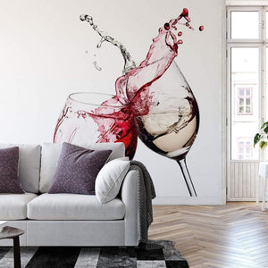 Wizard+Genius Wine Glasses Fotobehang 366x254cm 8-banen Sfeer | Yourdecoration.be