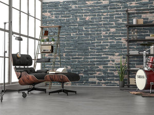 Komar Painted Bricks Vlies Fotobehang 368x248cm | Yourdecoration.be