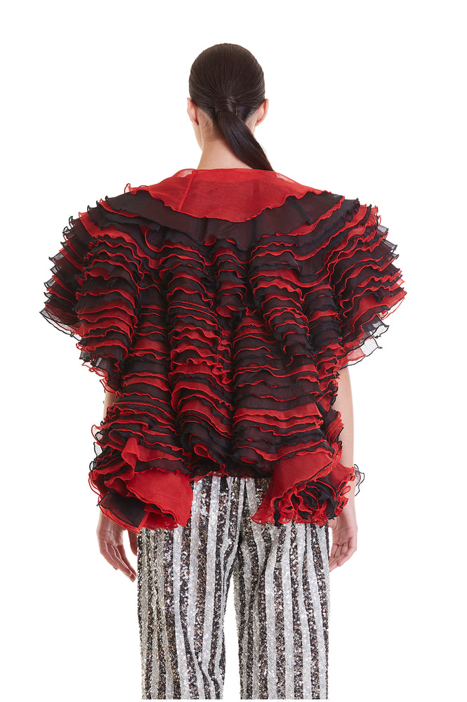 Red and Black Sheer Luxe Cloud