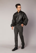 Load image into Gallery viewer, P. LEATHER JACKET WITH 3D WORK