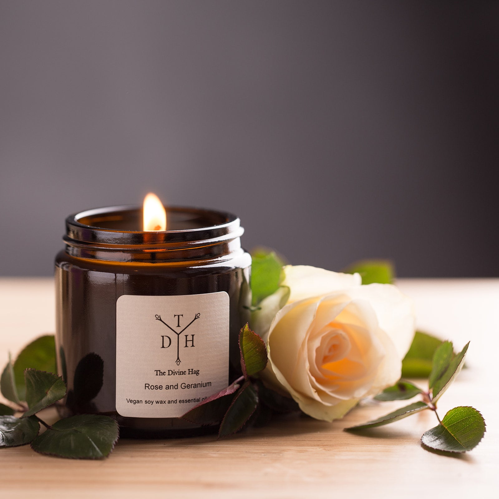Rose and Geranium Candle