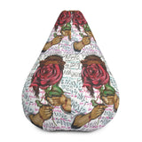 Love Never Fails All-Over Print Bean Bag Chair w/ filling