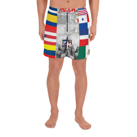 Latino's Stand up! Men's Athletic Long Shorts