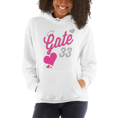 Pink Heart Drip Gate 33 Hooded Sweatshirt
