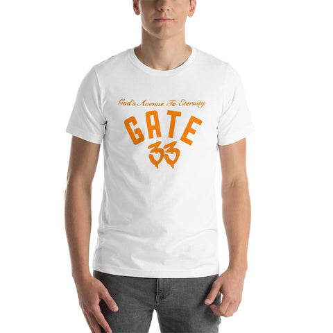 Gate 33 QB Stlye Short-Sleeve Unisex T-Shirt