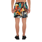 Graffiti ZeY Men's Athletic Long Shorts
