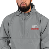 Faith Drippin Embroidered Champion Packable Jacket