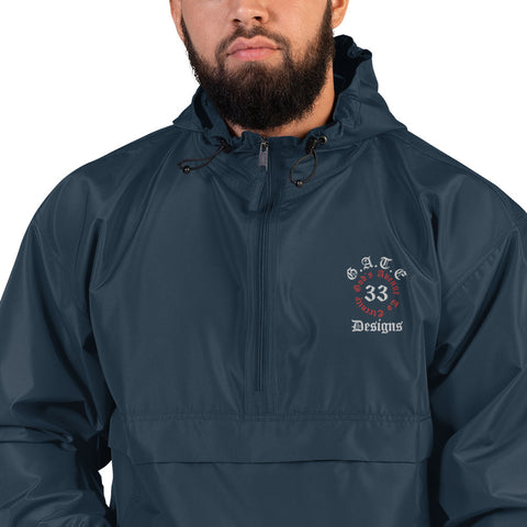 Gate 33 Designs Embroidered Champion Packable Jacket