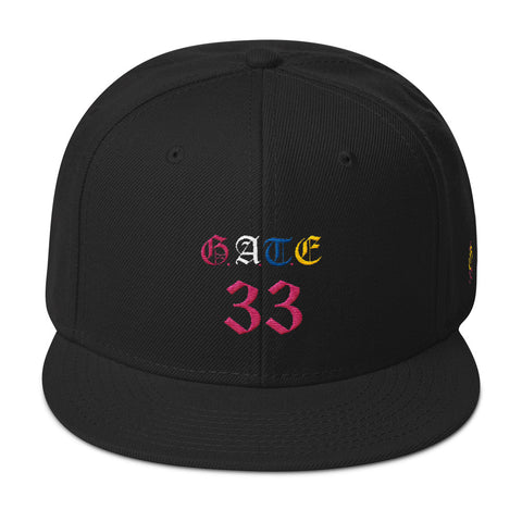 Colored Gate 33 Snapback Hat