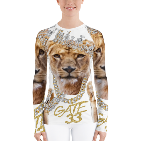 Heart of a Lioness Women's Rash Guard