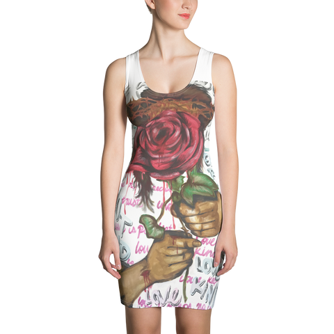 Gate 33 Rose Sublimation Cut & Sew Dress