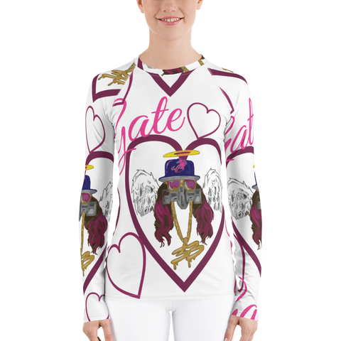 Gate 33 Mrs Graffiti Styles Women's Rash Guard