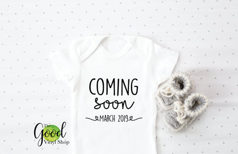 Baby Coming Soon Iron-On