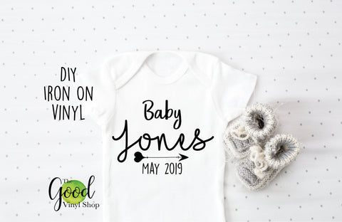 Baby Due Date Announcement Iron-On