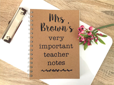 Important Teacher Notebook