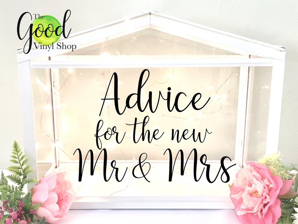 Advice For the New Mr and Mrs Decal