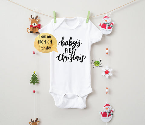 Baby's First Christmas Iron-On