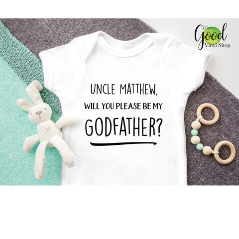 Will You Be My Godfather Iron-On