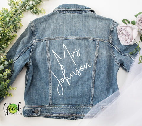 Mrs Iron-On For Denim Or Leather Jacket