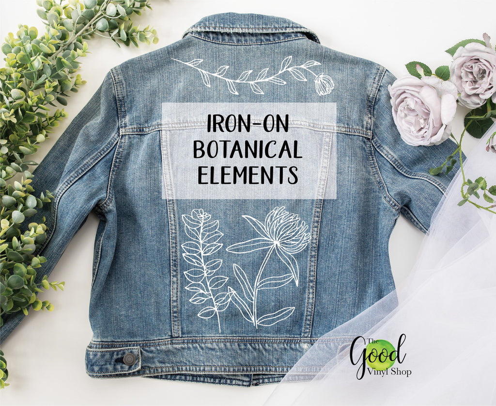 Iron-On Botanical Elements