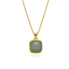 Smokey Amazonite Gold-Plated Necklace