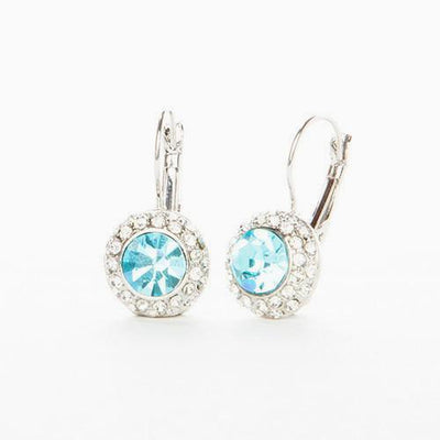 Aquamarine Austrian Crystal Earrings - Links & Charms