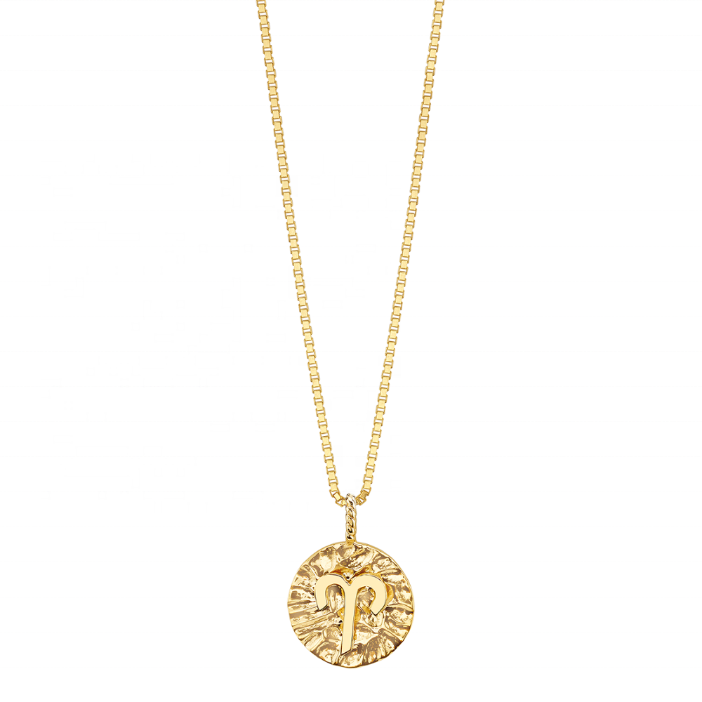Aries Gold Coin Necklace