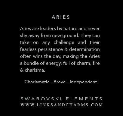 Aries  (Mar 21 - April 19) - Links & Charms