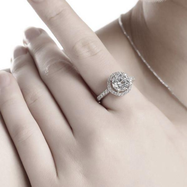 Sterling Silver Halo Ring - Links & Charms