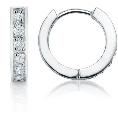 Sterling Silver Hoop Earrings - Links & Charms