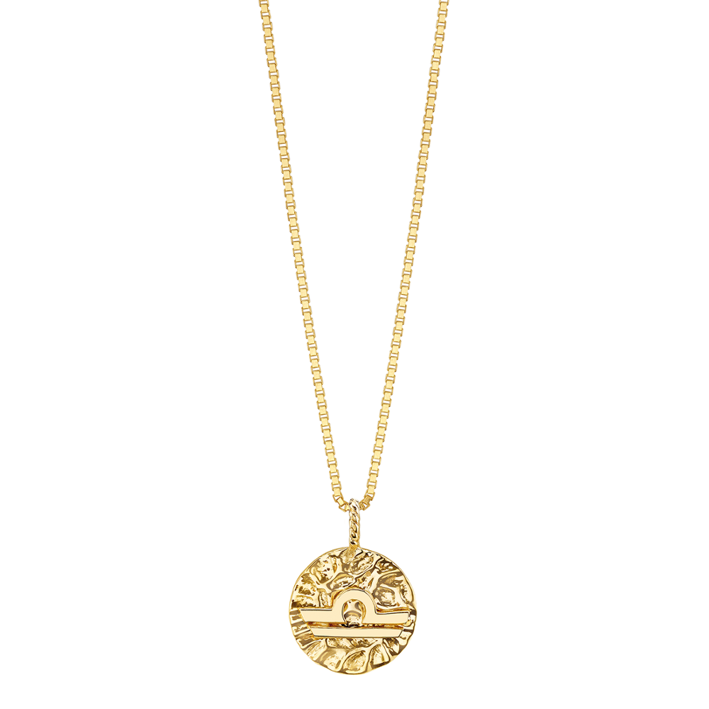 Libra Gold Coin Necklace