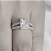 Sterling Silver Princess Cut Ring - Links & Charms