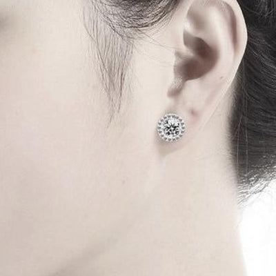 Sterling Silver Halo Studs - Links & Charms