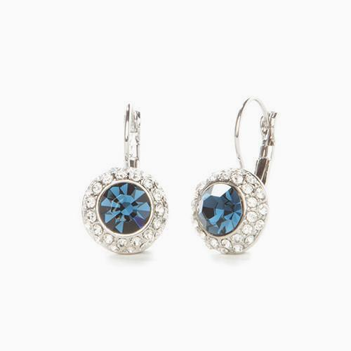 Sapphire Austrian Crystal Earrings - Links & Charms