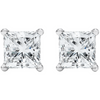 Sterling Silver Princess Cut Studs - Links & Charms