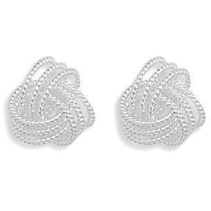 Silver Love Knot Studs - Links & Charms