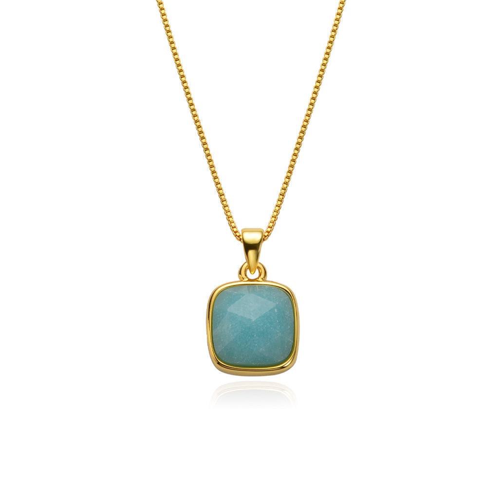 Amazonite Gold-Plated Necklace